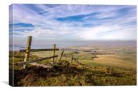 St Catherines Down, Canvas Print