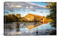Bembridge Lagoons Boatshed, Canvas Print