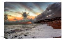 Ventnor Beach Stormy Sunset, Canvas Print