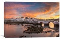 Sunset at Tavira Algarve Portugal, Canvas Print