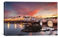 Tavira Twilight Algarve Portugal, Canvas Print