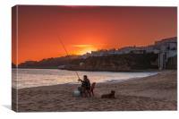 Albufeira Sunset Algarve Portugal, Canvas Print