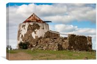 Derelict Windmill Laranjeiras Portugal, Canvas Print