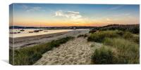 Silver Sands Sunset Bembridge Isle Of Wight, Canvas Print