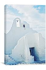 Mykonos Church, Canvas Print