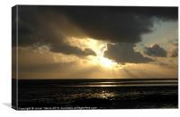 Sunset over Lytham, Canvas Print