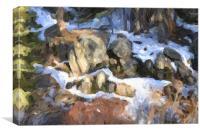 Big Bear Rocks, Canvas Print