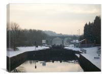 canal locks, Canvas Print