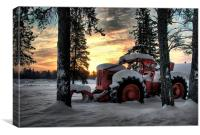 Skidder Sunrise, Canvas Print