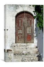 Past glory - Greek village, Canvas Print