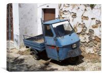 Old three wheeler car , Canvas Print