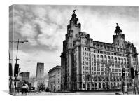 Liverpool City Centre, Canvas Print