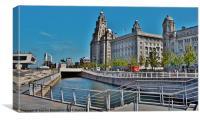 Liverpool Waterfront Colour, Canvas Print
