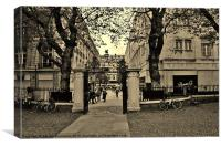 City Life In Sepia, Canvas Print