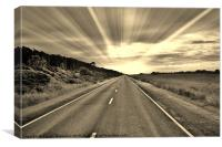 Long Road Ahead In Sepia, Canvas Print