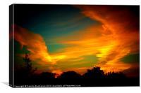 Fire Sunset, Canvas Print