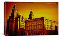Pier Head Liverpool, Canvas Print