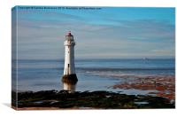 Perch Rock Lighthouse, Canvas Print