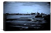 Liverpool Waterfront In The Distance, Canvas Print