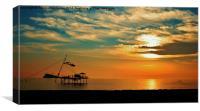 Sunset Benidorm, Canvas Print