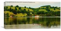 Pooley Bridge Cumbria, Canvas Print