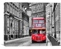 London Bus, Canvas Print