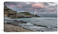Bracelet Bay, Mumbles, Canvas Print