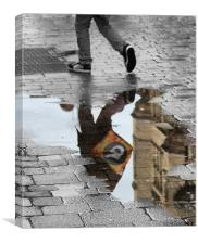 Puddle Reflections, Canvas Print