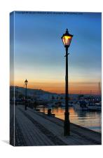 Dusk on the Marina, Canvas Print