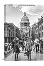 Walking to St.Pauls, Canvas Print