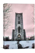 Icelandic Church, Canvas Print
