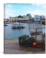 Harbour at Tenby, Canvas Print