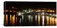 Tenby by Night, Canvas Print