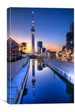Tokyo Skytree Reflected, Canvas Print