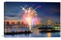 Tokyo Bay Fireworks, Canvas Print