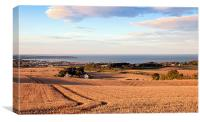 Overlooking Filey, Canvas Print