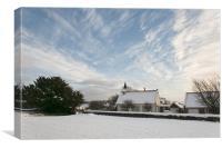 Winter at Rudston, Canvas Print