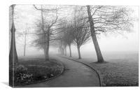 One Foggy Morning, Canvas Print