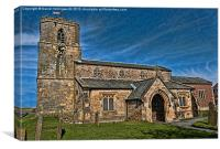 Bempton Church, Canvas Print