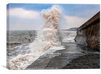 High Tide Wreck, Canvas Print