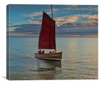 Sailing in the Bay, Canvas Print