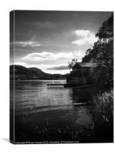 Ulswater Boathouse., Canvas Print