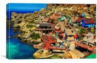 Popeye Village, Canvas Print