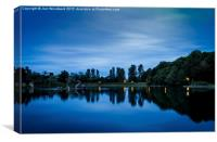 Llandrindod Wells Lake, Canvas Print