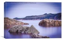 Rocks Saundersfoot, Canvas Print