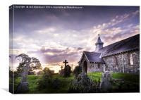 Old Llandrindod Wells Church, Canvas Print