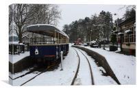 Snowy Railway Platform, Canvas Print