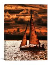 Red Sails in the Sunset, Canvas Print