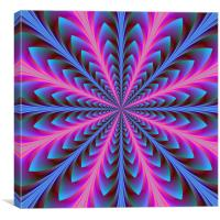 Pink and Blue, Canvas Print