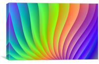 Color Wave, Canvas Print